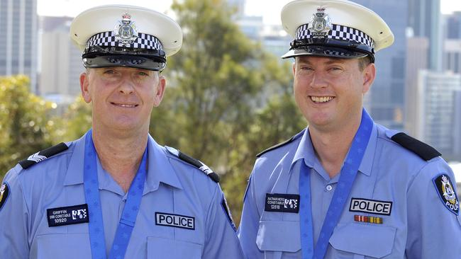 Senior Constable Matthew Griffin and Constable Nathan Hicks