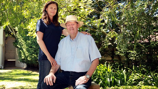 Tony Greig and his wife Vivian. Picture: Tim Hunter