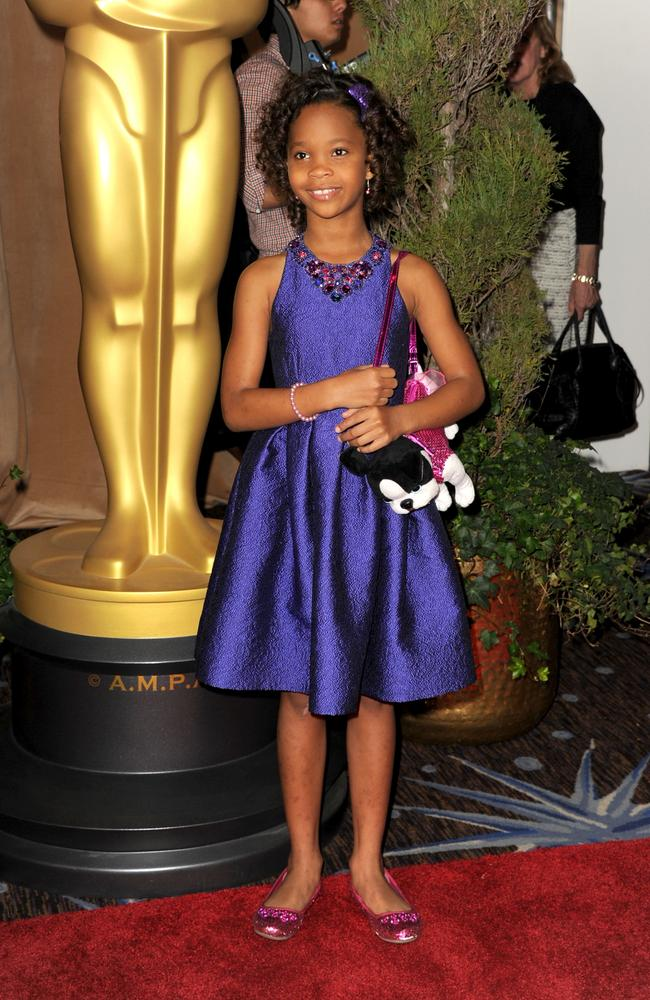 Actress Quvenzhane Wallis attends the 85th Academy Awards nominations luncheon in 2013.