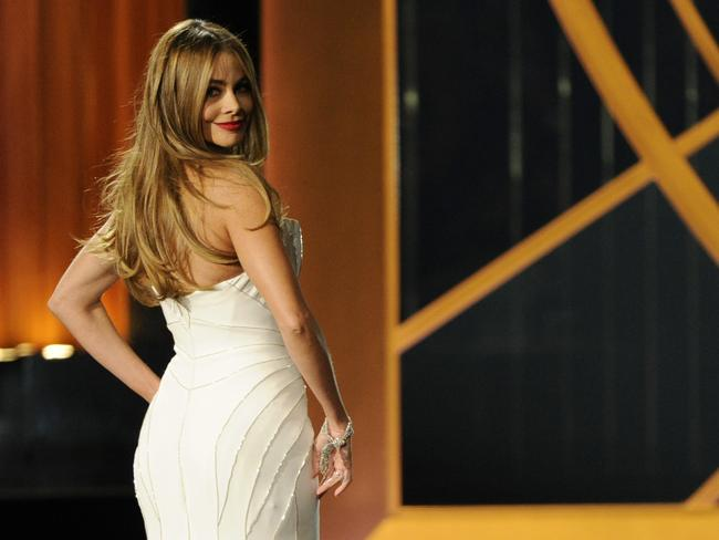 Sofia Vergara on stage at the 66th Annual Primetime Emmy Awards.