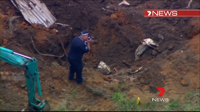 Pieces of carpet from a demountable building was excavated. Photo: CH 7