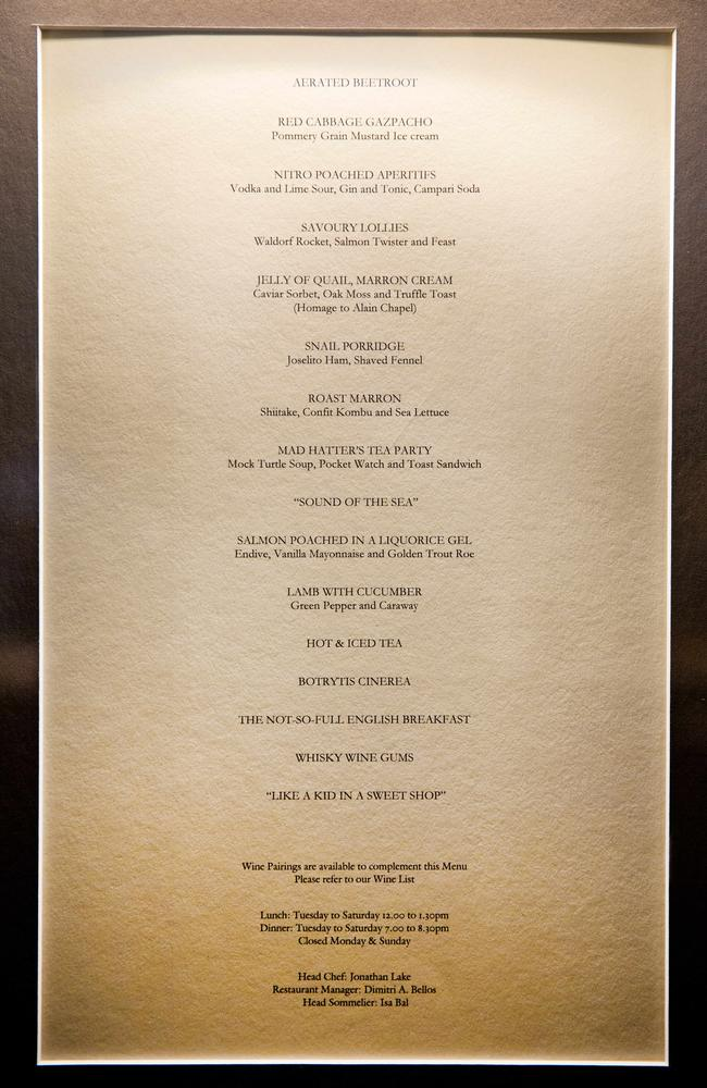 Crown Metropol Melbourne Room Service Menu