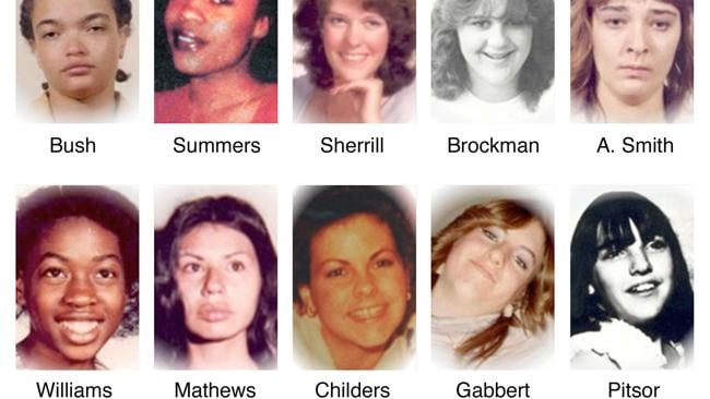 Some of Gary Ridgway's 49 victims ... (L-R) (top row) Denise Darcel Bush, Shawnda Leea Summers, Shirley Marie Sherrill, Colleen Renee Brockman, Alma Ann Smith; (bottom row) Delores LaVerne Williams, Gail Lynn Mathews, Andrea M Childers, Sandra Kay Gabbert and Kimi-Kai Pitsor. Picture: AP