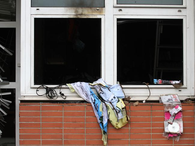 Previous attack ... this picture shows the offices of French satirical magazine Charlie Hebdo when it was firebombed in 2011. Picture: Getty Images