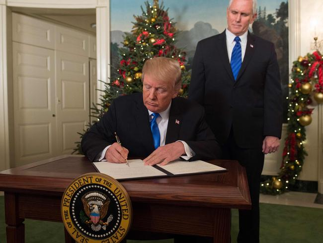 US President Donald Trump's decision up-ends decades of US policy. Picture: AFP PHOTO / SAUL LOEB