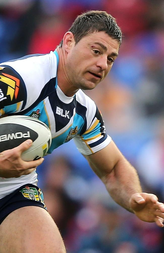Mark Minichiello in action for the Titans.