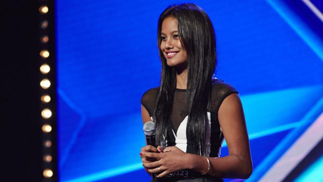 Aaliyah Warren on The X Factor. Picture: Supplied