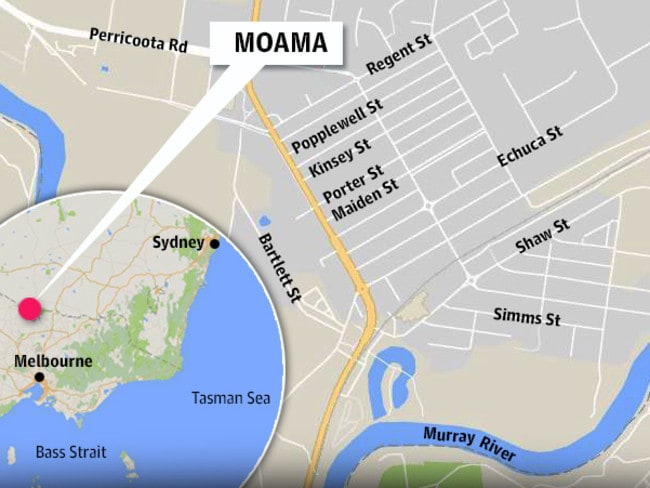 Moama is near the border of Victoria and NSW.