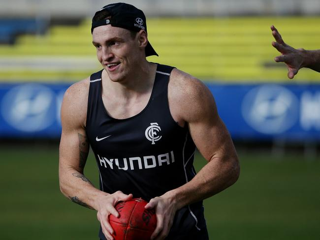 Some footy pundits believe Carlton should sack Mitch Robinson. Picture: Colleen Petch.