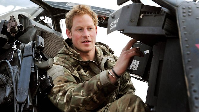 Prince Harry in an Apache helicopter in Afghanistan, where he said he killed Taliban insurgents in his role as a co-pilot and gunner. Picture: AFP