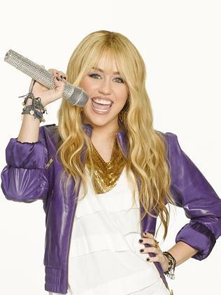 Miley Cyrus as Disney's Hannah Montana.