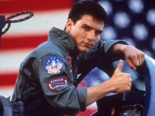 "WIRE: FILE - In this undated film publicity image released by Paramount Pictures, Tom Cruise is shown in a promotional image for the 1986 film, ""Top Gun."" (AP Photo/Paramount Pictures)"