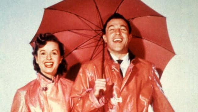 Debbie Reynolds with Gene Kelly in Singing in the Rain.