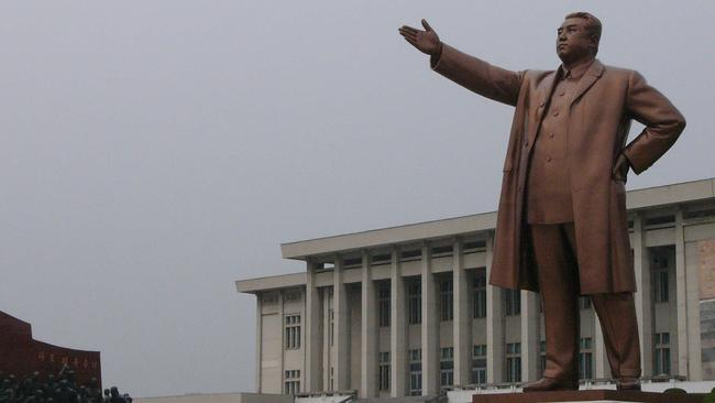 That's better: this photo of a full-bodied Kim Il-sung in Pyongyang would be considered more appropriate. Picture: John Wright