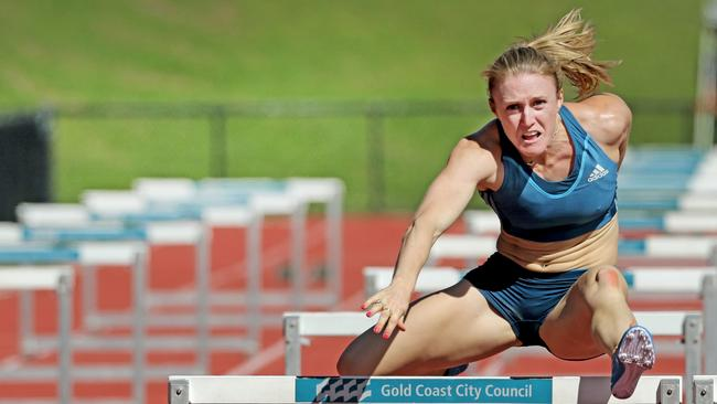 Sally Pearson's last race before heading to Europe, where she was forced out of two meetings by injury. Picture: Luke Marsden.
