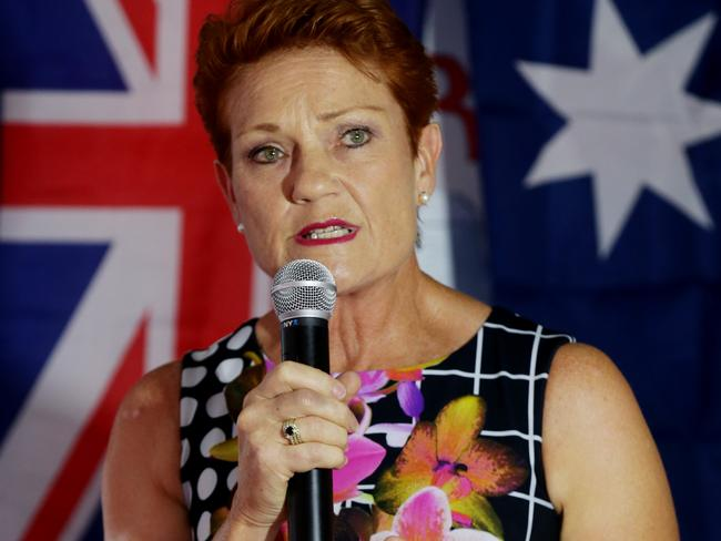 Pauline Hanson has previously spoken of links between vaccinations and autism. Picture: Mark Calleja