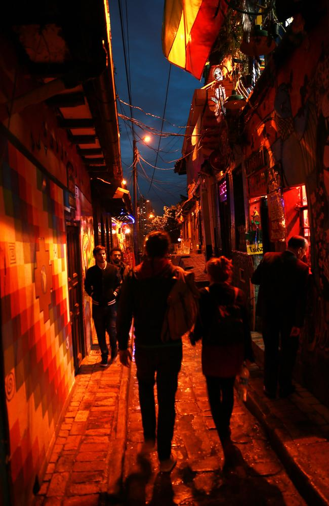 The narrow streets are packed with trendy bars where you can smoke cannabis at tables.