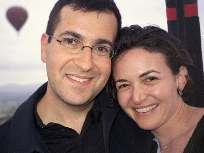 Sheryl Sandberg and her late husband David Goldberg.
