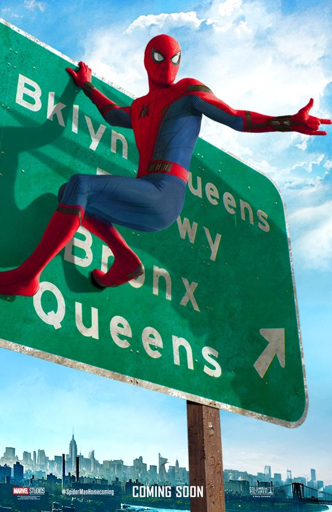 A poster for 2017 film Spider-Man: Homecoming.