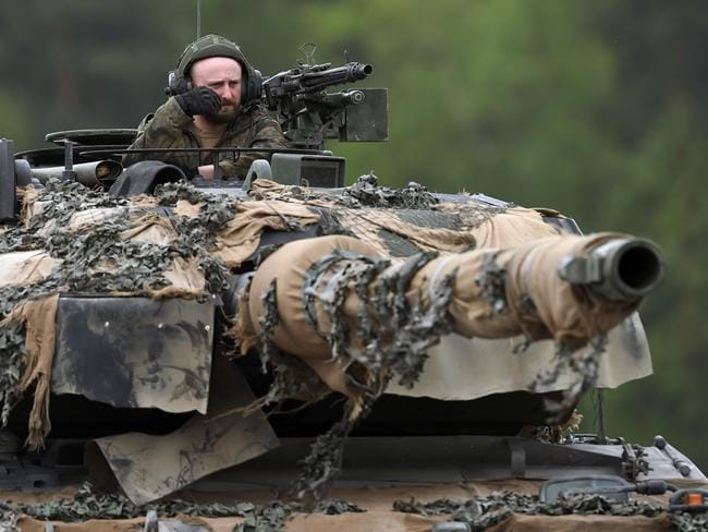 The material could theoretically be used to coat combat vehicles. Picture: Christof Stache