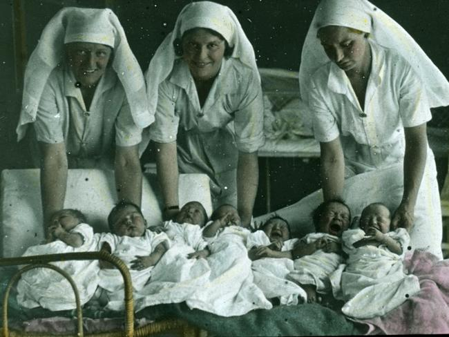 Angels... Nurses caring for outback babies in in 1940s. Picture: National Library of Australia.
