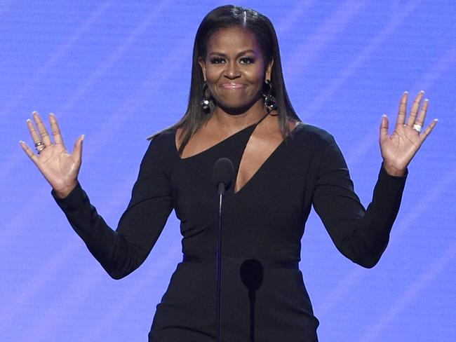Former first lady Michelle Obama was busy putting initiatives into place. Picture: Chris Pizzello/Invision/AP