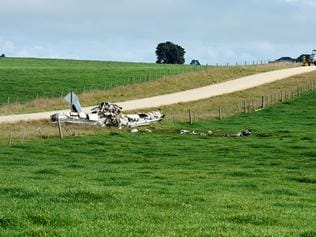 Plane crash at Suttontown, near Mount Gambier . Picture: Frank Monger