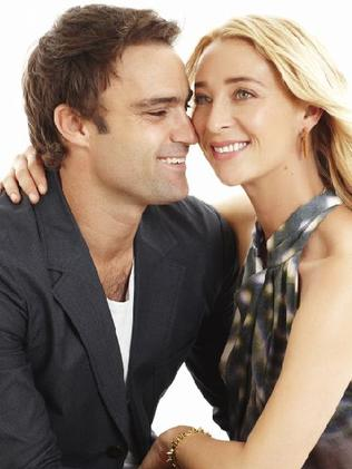 Matt Le Nevez, who played Patrick, alongside Asher Keddie as Nina in Offspring.
