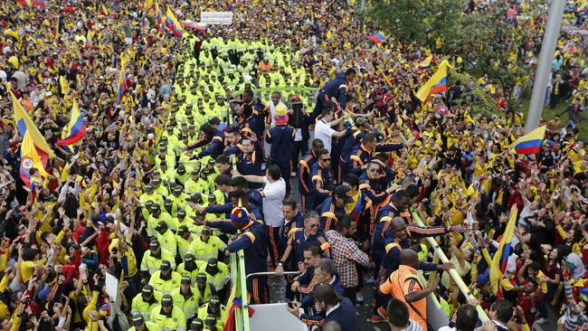 Colombia's heroes are given a huge welcome home.