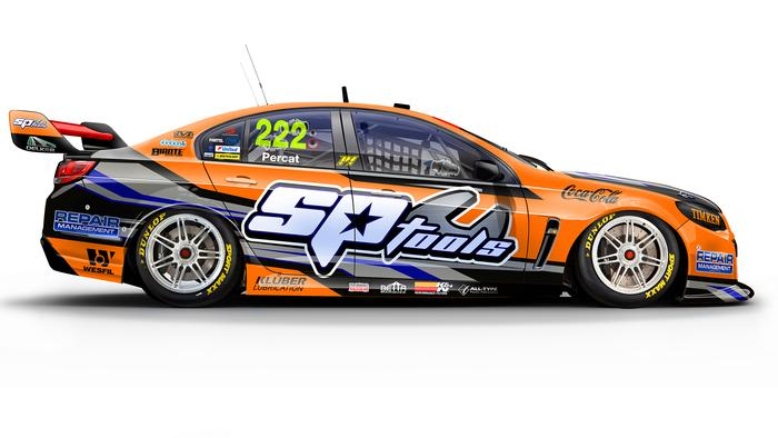 Nick Percat's No. 222 Lucas Dumbrell Motorsport Holden Commodore.