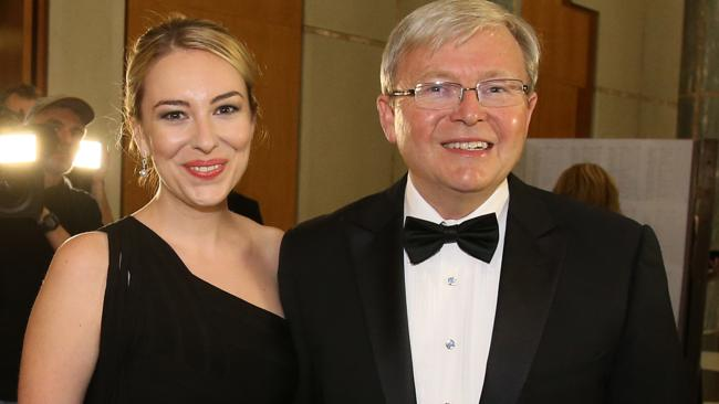 Prime Minister Kevin Rudd and his daughter Jessica.