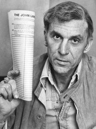 Then: Broadcaster John Laws, pictured in 1978.
