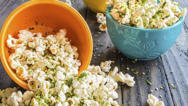 Seaweed popcorn — a healthy snack food.