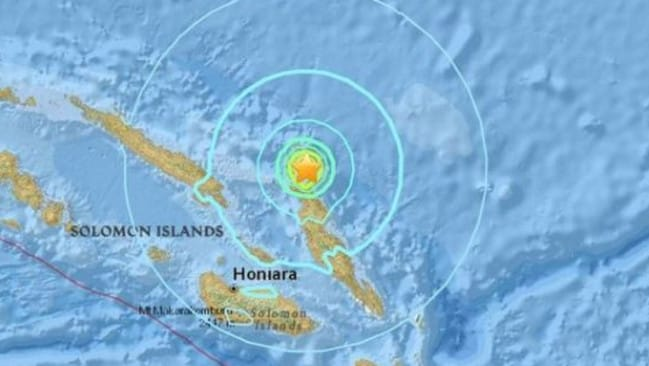 Powerful upheaval hits off Solomon Islands