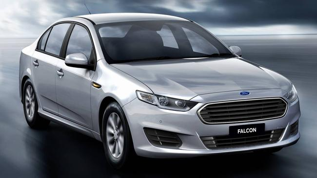 New Falcon ... Ford hopes the new model will reverse its sales slide.