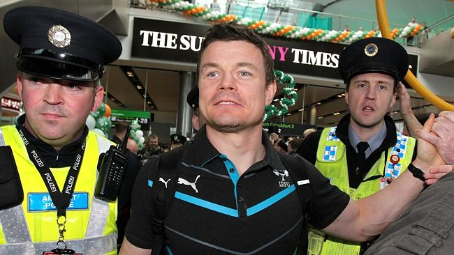 Brian O'Driscoll received a huge welcome on his return to Dublin.