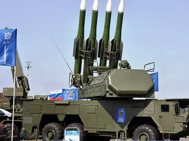 The Buk missile system thought to be responsible for bringing down MH17.