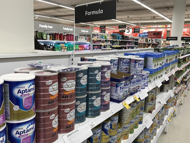 Baby formula on the shelves at Coles in Port Macquarie's CBD. Picture: Nathan Edwards