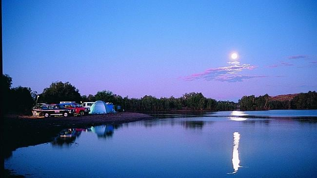Get back to basics and camp on a river bank. Picture: Supplied