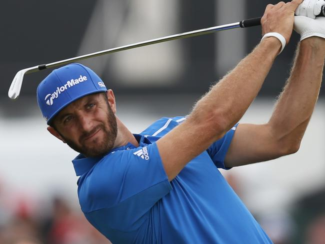 Dustin Johnson in action at the British Open.