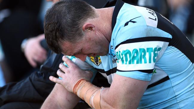 Paul Gallen is battling a bicep issue.