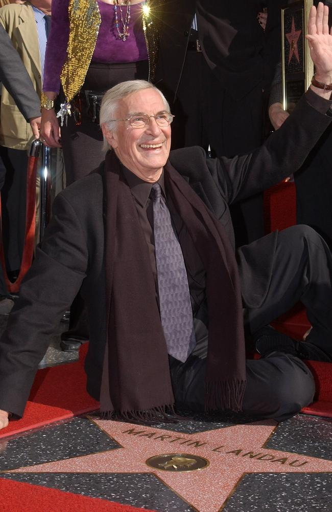 Landau was given a star on the Hollywood Walk Of Fame in 2001. Picture: Getty