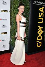 <p>Miranda Kerr arrives for the 9th Annual G'Day USA Los Angeles Black Tie gala on January 14, 2012 in Hollywood, California. (Photo by Toby Canham/Getty Images)</p>