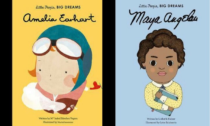 LITTLE PEOPLE, BIG DREAMS. An illustrated book series to introduce her to some of history's greatest achievers. $19.99.