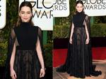 Game Of Thrones' Emilia Clarke attends the 73rd Annual Golden Globe Awards held at the Beverly Hilton Hotel on January 10, 2016 in Beverly Hills, California. Jason Merritt/Getty Images/AFP