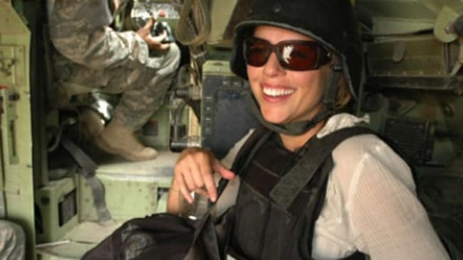 Brave ... Lara Logan has been back to the Middle East to report on Islamic State since her ordeal.