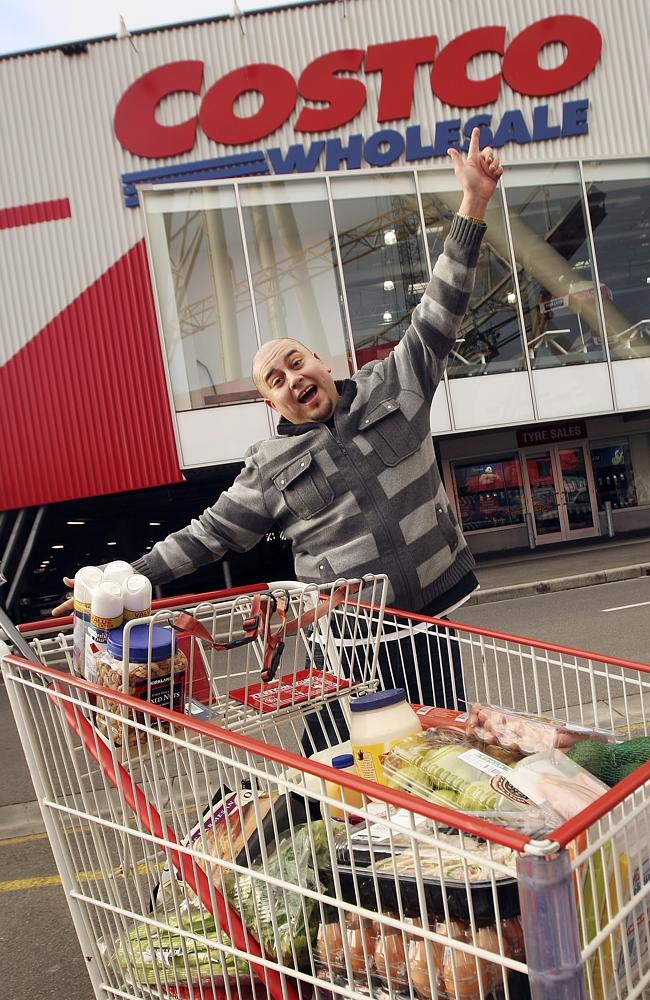 Regular Costco shopper Javier Paredes at the Docklands Costco in Melbourne.