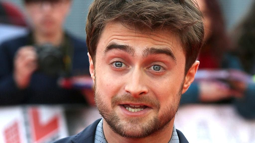 "Harry Potter star Daniel Radcliffe rushed to the aid of tourist ""slashed in face"" in a moped robbery in London. Picture: Tim P. Whitby/Getty Images"