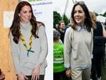 Catherine, Duchess of Cambridge attends a special Cub Scout Pack meeting on December 14, 2016 in King's Lynn, England. Picture: Getty...Crown Princess Mary of Denmark during the 'Children's Relay Run' in Faelledparken on June 10, 2017 in Copenhagen, Denmark. Picture: Getty