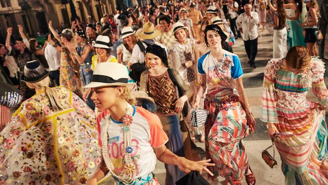 Fun and frivolity on the streets of Havana at the Chanel Cruise 2016 collection Picture: Chanel